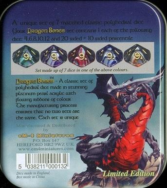 Набор кубиков 7 шт. Dragon Bones
