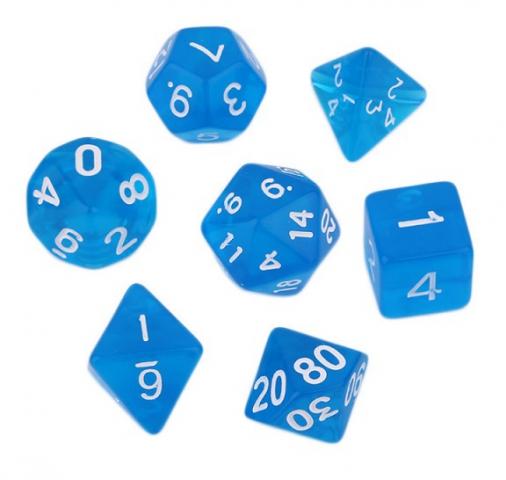 Набор кубиков 7 шт. прозрачных  в пакете