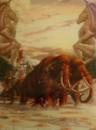 Протекторы (кармашки)  с рисунком Мамонт 50шт