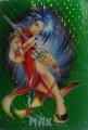 Протекторы (кармашки)  с рисунком Кунг-Фу (зеленые) 50шт
