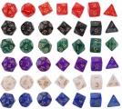 Набор кубиков 7 шт. перламутровых  в пакете