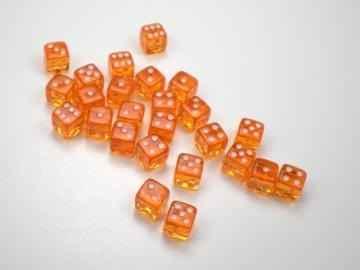 Кубик 6-гранный прозрачный 12мм